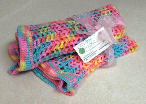 Rainbow colored Crocheted Baby Blanket