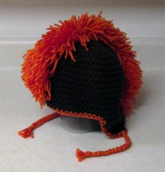 Mohawk Crocheted Hat  - Team or School Colors