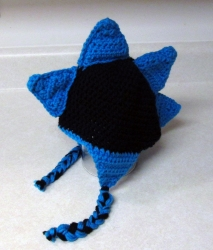 Blue Spiked Crochet Hat