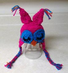 Sleepy Owl Crochet Hat