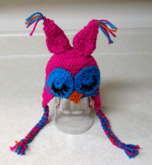 Sleepy Owl Crochet Hat