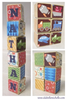 Personalized Baby Wooden Block - $4.00 each