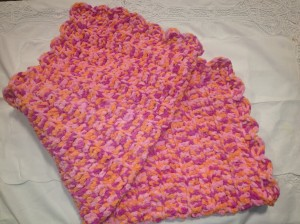 Plush Pink/Peach Blanket